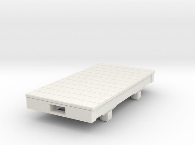 Gn15 small 6ft flat wagon in White Natural Versatile Plastic