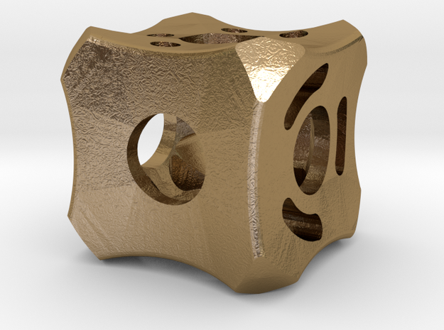 Dice93 in Polished Gold Steel