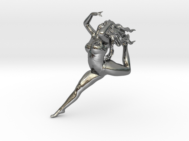 Dancer  in Polished Silver