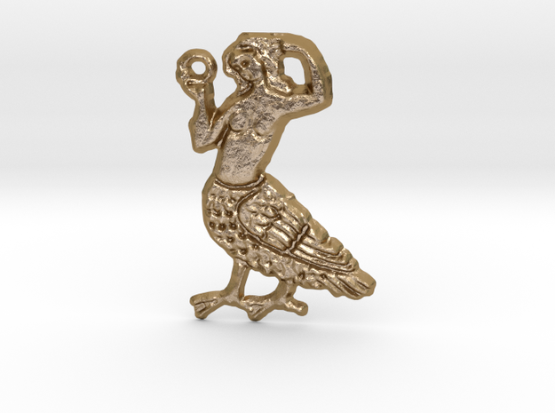 A Siren  in Polished Gold Steel