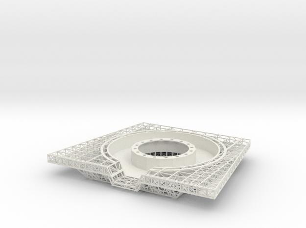Observatory (lower Deck) V0.8 in White Natural Versatile Plastic
