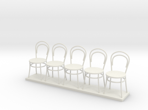 Miniature 1:24 Bentwood Chairs (5) 3d printed