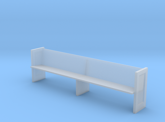 Miniature 1:48 Church Pew in Smooth Fine Detail Plastic