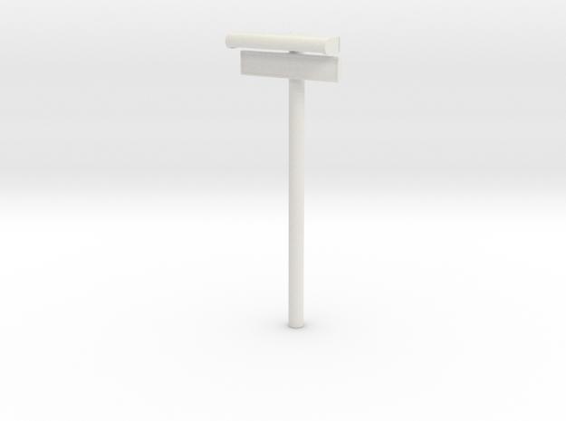 1/22,5 - DSB Stations lampe med stations skilt (VI in White Natural Versatile Plastic