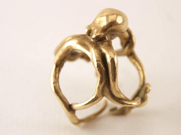 Octopus Ring 3d printed