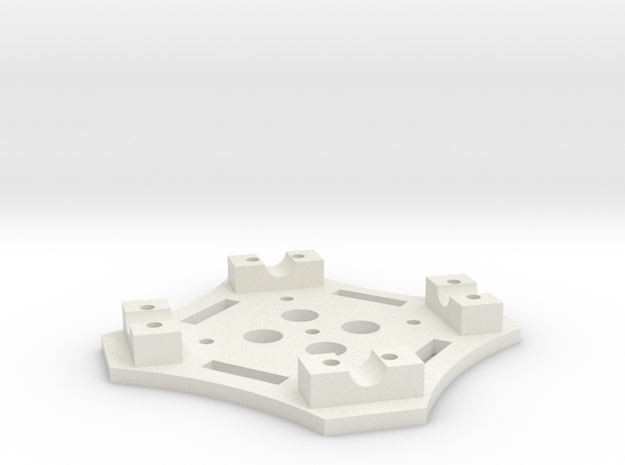 Center Top Plate in White Strong & Flexible