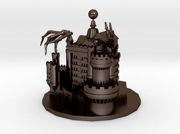 Devil castle in Polished Bronze Steel