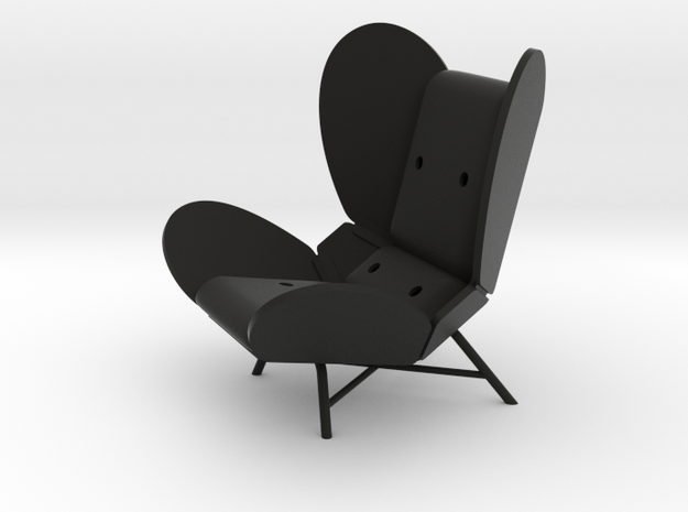 'FREEWING LOUNGE CHAIR' by RJW Elsinga 1:10 in Black Natural Versatile Plastic