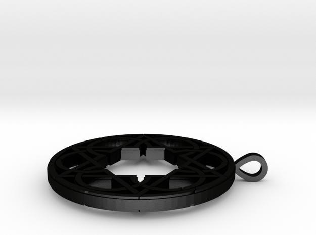 Circlestar Pendant in Matte Black Steel