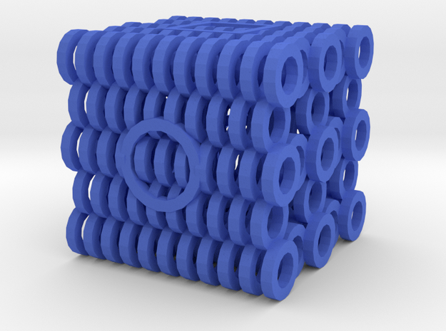 Dice100 in Blue Strong & Flexible Polished
