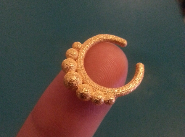 Septum Ring 1.5mm in Polished Gold Steel