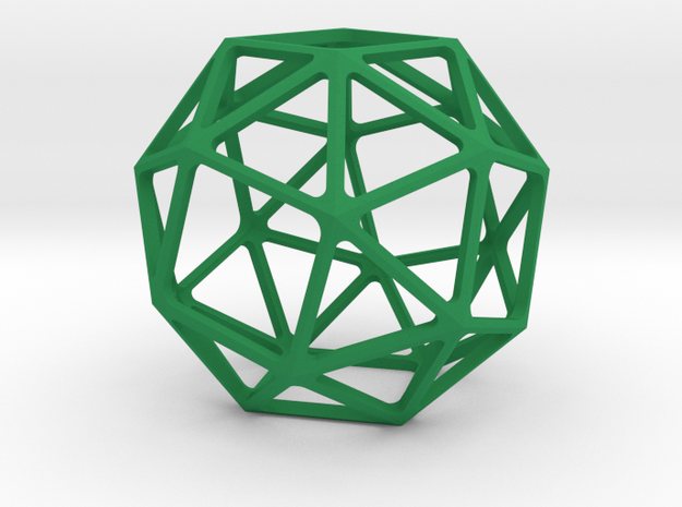 Snub Cube in Green Processed Versatile Plastic