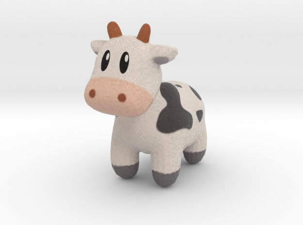 Cute Cow in Full Color Sandstone