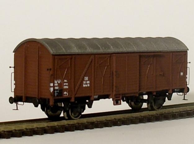 1103 N Glmhs 50, Bretterwände 3d printed Modell mit Zurüstteilen und Beschriftung