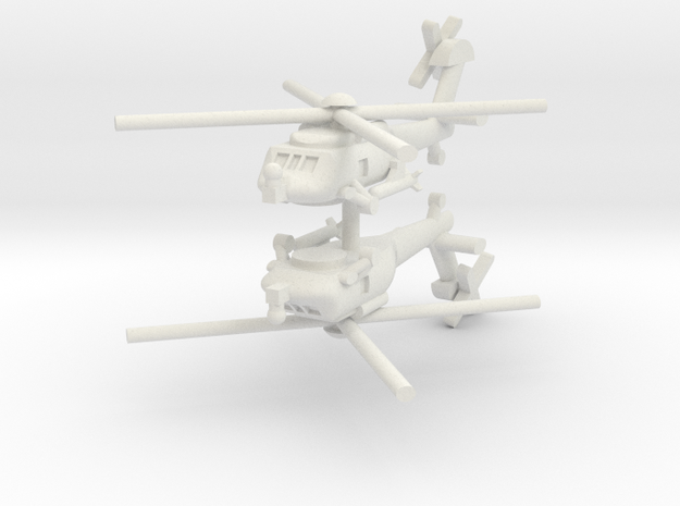 1/285 MH-60R Seahawk (x2) in White Natural Versatile Plastic