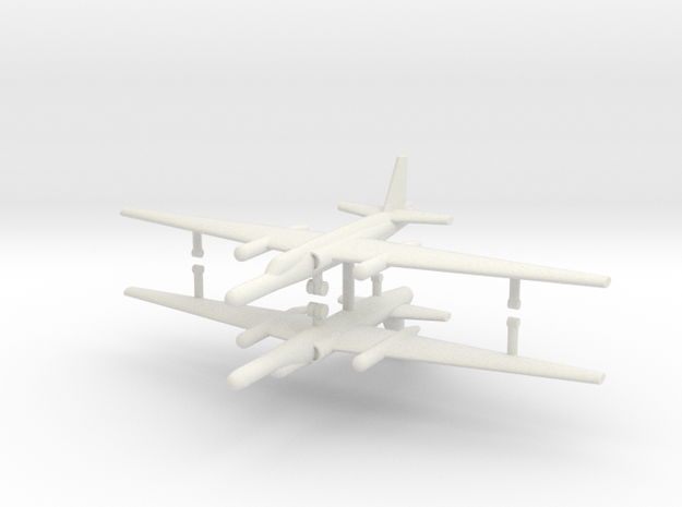1/285 U-2 TR-1A Reconnaissance Aircraft (x2) in White Natural Versatile Plastic