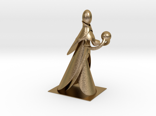 GroBoto Boolean Figure in Polished Gold Steel