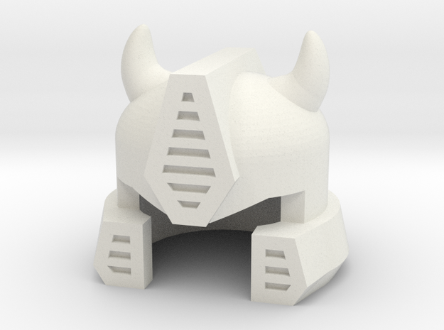 Robohelmet: Iddle Bug in White Strong & Flexible