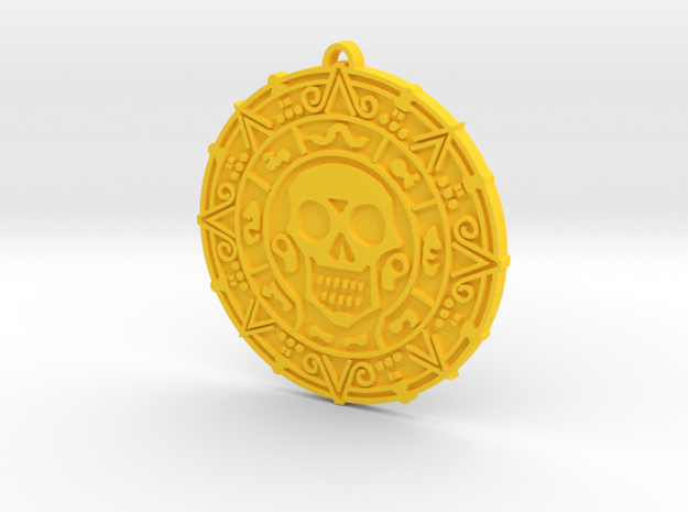 Doubloon in Yellow Processed Versatile Plastic
