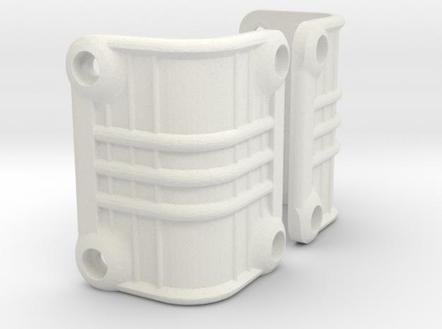 Vaterra Ascender Rear Light Bucket Covers in White Natural Versatile Plastic