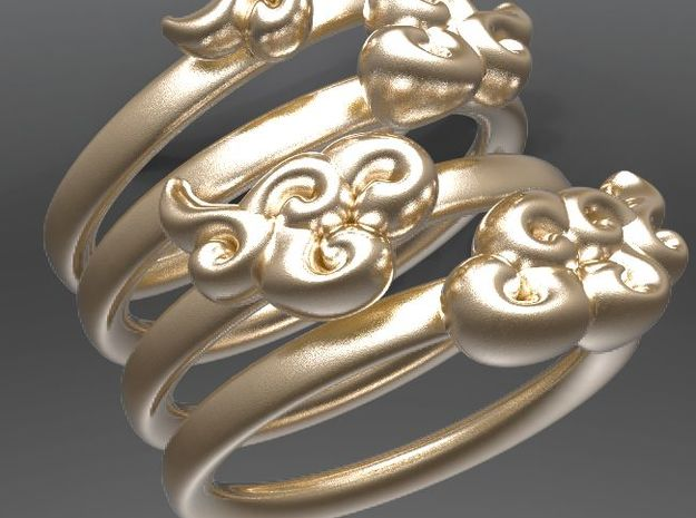 Four Clouds - size 8.5 - in Matte Gold Steel