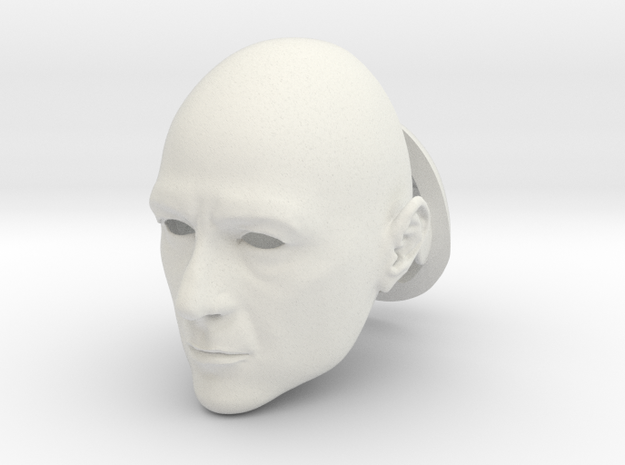Anthony Stark BJD head SD size in White Natural Versatile Plastic