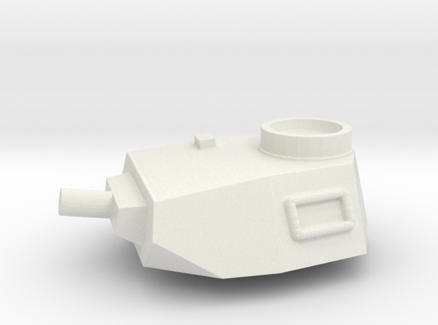 Turret Europe #2, Panzer IV Short Barrel (n-scale) in White Natural Versatile Plastic