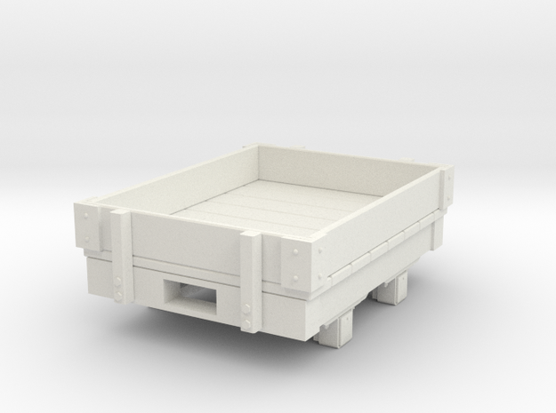 Gn15 small 4ft 1 plank wagon in White Strong & Flexible
