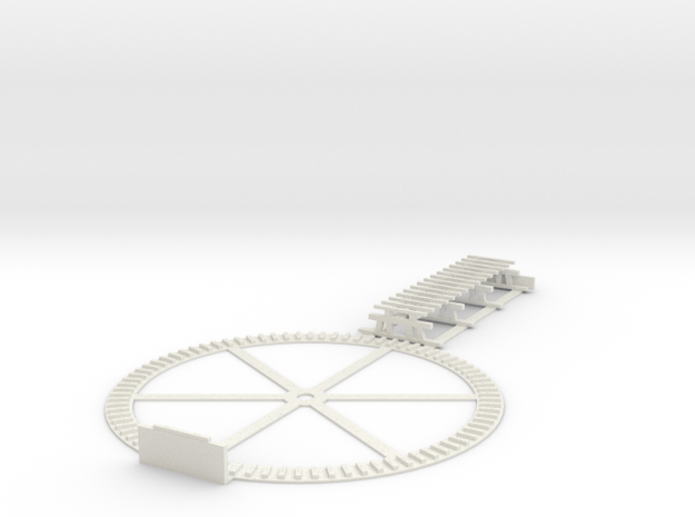 Stuart, VA turntable pit & 39' trestle - HO scale in White Natural Versatile Plastic