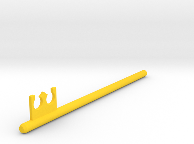 Inventing Room key Left Key (5 of 9) in Yellow Strong & Flexible Polished