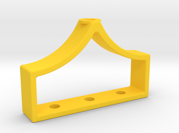 Inventing room key Body (1 of 9) in Yellow Processed Versatile Plastic
