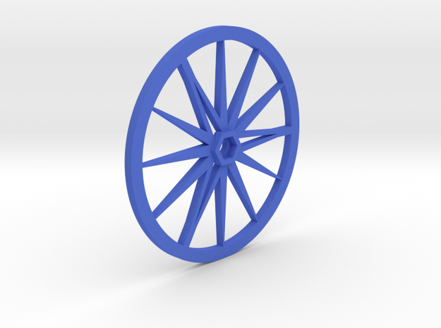 Needle-Fly 8L :: Large Robot Wheel for 8mm nuts in Blue Processed Versatile Plastic