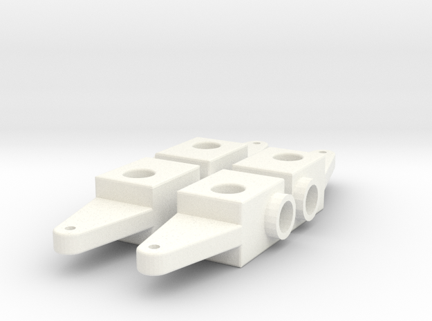 Custom Spindle #1 in White Processed Versatile Plastic