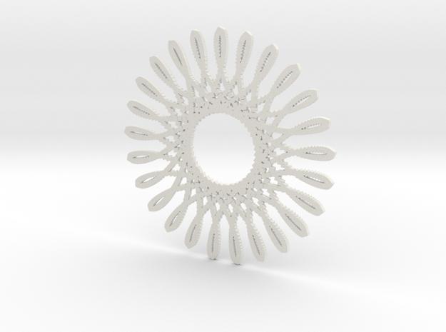 Spirograph03 in White Natural Versatile Plastic