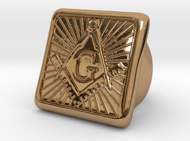 Freemason Ring - Size US 9 in Polished Brass