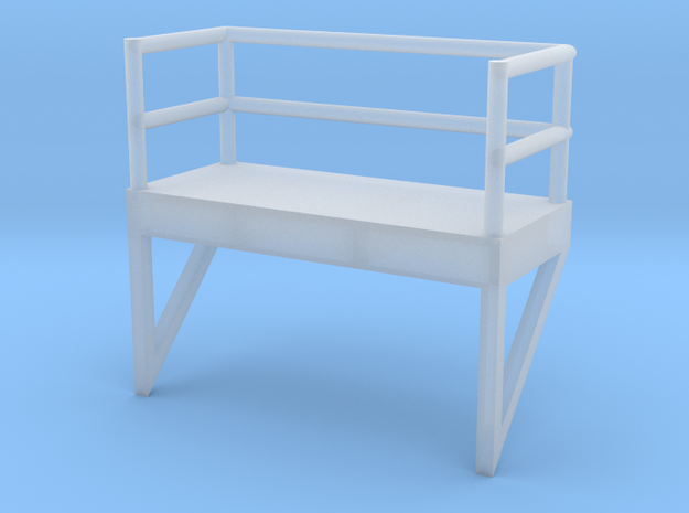 'N Scale' - 8' W - Ladder Platform in Smooth Fine Detail Plastic