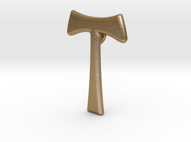 Smykke - Tau kors vedhæng in Polished Gold Steel