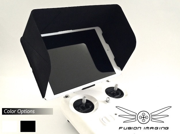 iPad Mini Visor / FPV Deep Hood - Easy Glide in Black Strong & Flexible