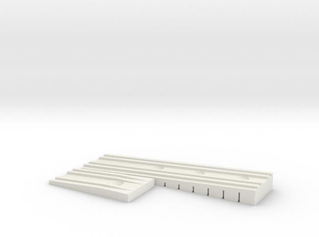 Bretts Wedge Rev 2 in White Natural Versatile Plastic