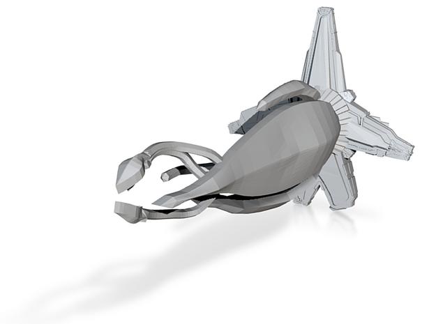 1/2500 B5 Thirdspace Fighter :-) 3d printed