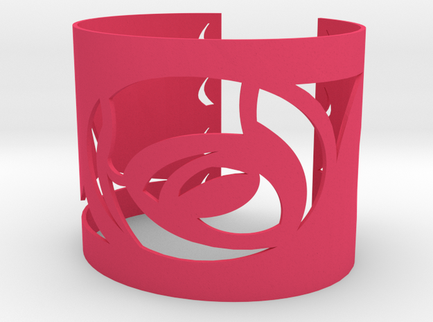 Rose w Thorn Bracelet 3d printed