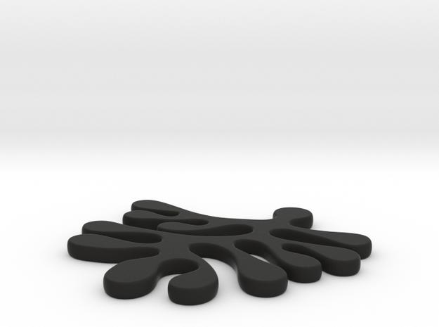 amoeba earring in Black Natural Versatile Plastic