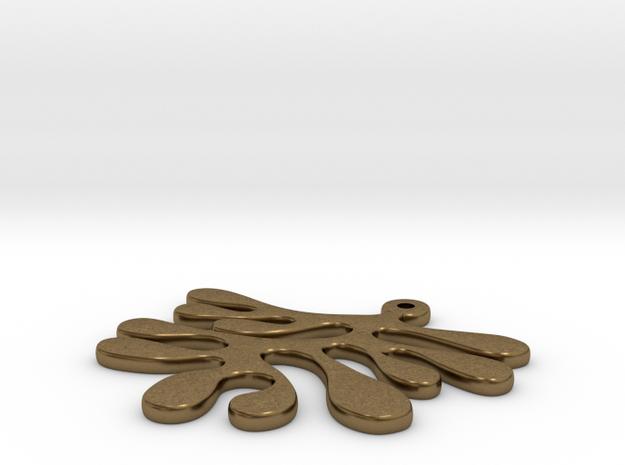 amoeba pendant 3d printed