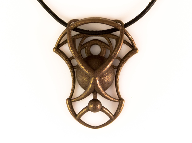 Essence Pendant in Polished Bronze Steel