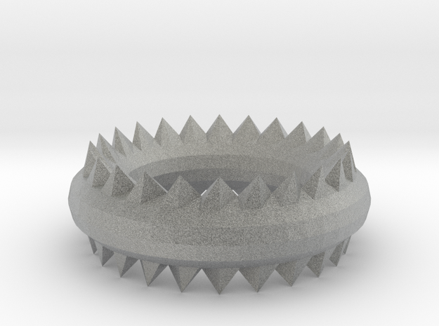Ridged Ring in Metallic Plastic