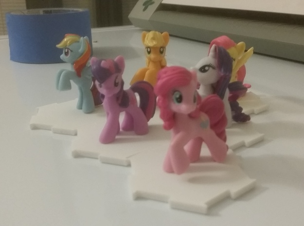 MLP blind bag miniatures interlocking stands in White Natural Versatile Plastic