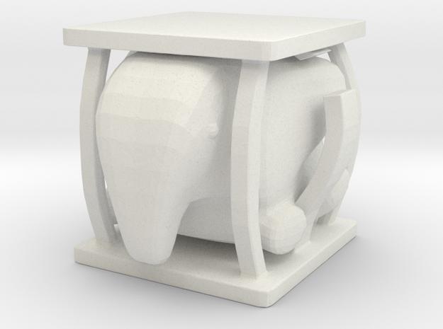 Elephant Cage in White Natural Versatile Plastic