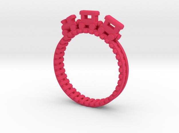 Train Nr3 Ring in Pink Processed Versatile Plastic