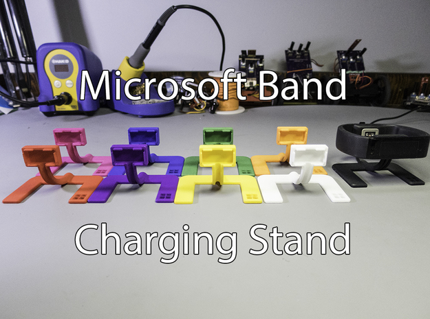 Microsoft Band Charging Stand in Black Natural Versatile Plastic