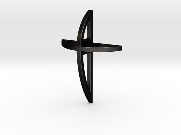 Round Cross Necklace Pendant